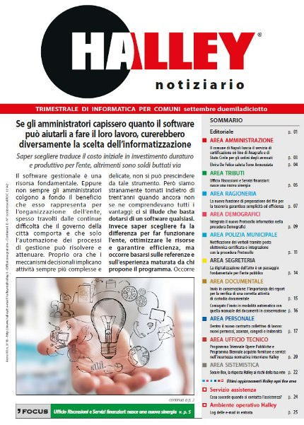 Notiziario Halley Settembre 2018