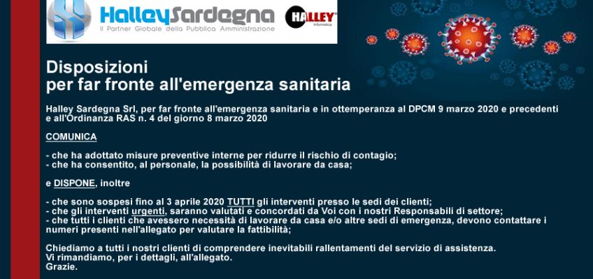 Comunicazione Halley Sardegna – Emergenza Sanitaria